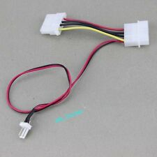 1pcs 4Pin Molex To 3Pin Female PC Computer Case Fan Adapter Cable Wire