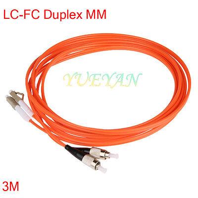20m LC-LC Duplex Multimode 62.5//125 Optic Fiber Optics Patch Cable