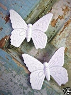 Shabby n Chic Butterflies ( 4 PC ) FURNITURE APPLIQUES / CRAFTS