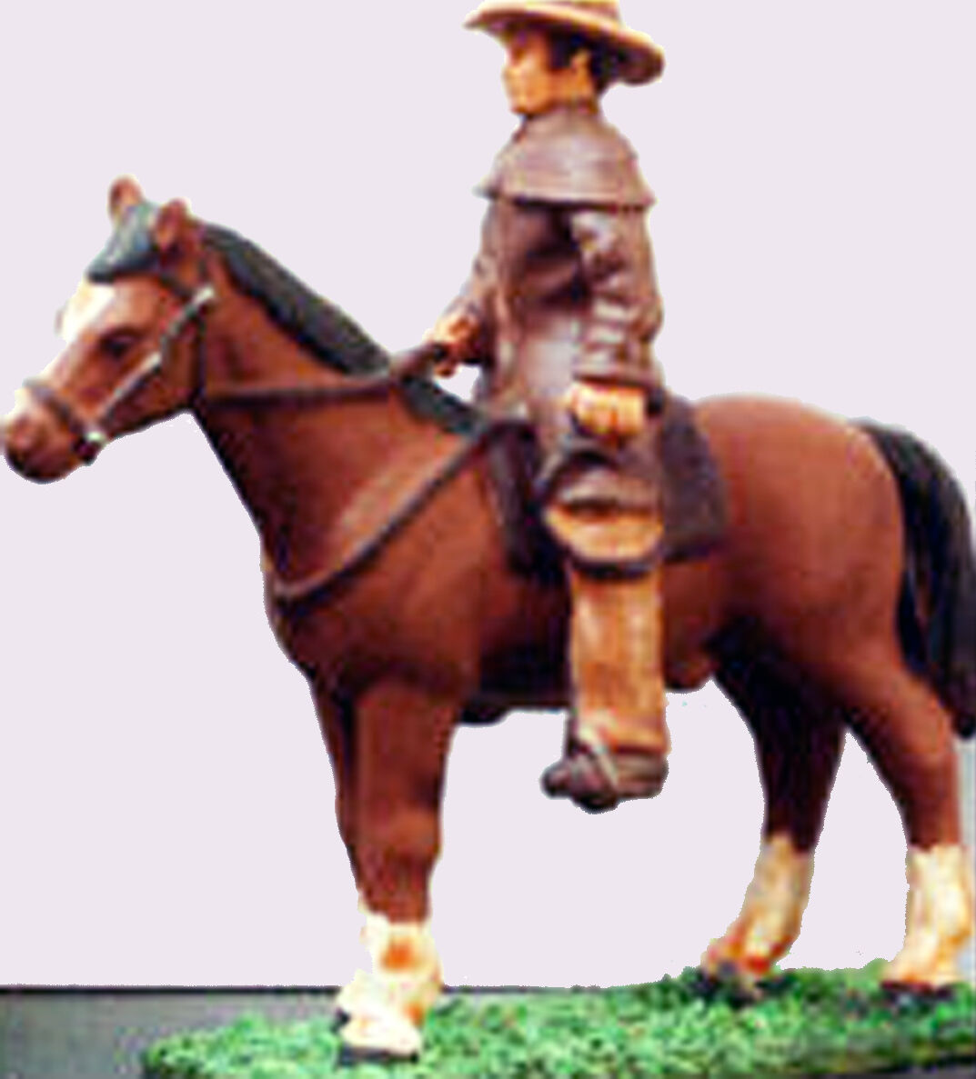 COWBOY DROVER ON HIS HORSE On3 On30 O Scale Unpainted Resin Figure MB045