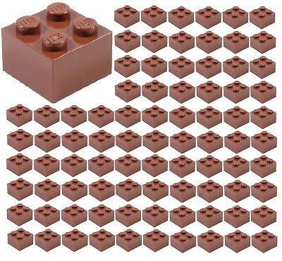 ID 3003 ☀️100x NEW LEGO 2x2 REDDISH BROWN Bricks BULK Parts City town Starwars