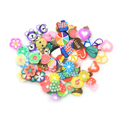 Slime Accessory Fruit Polymer Clay Antistress Jelly Mud Toy Nail Art StickerHCUK