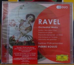 PIERRE-BOULEZ-RAVEL-DOUBLE-COMPACT-DISC-DEUTSCHE-GRAMMOPHON-1995-SCELLE-NEUF