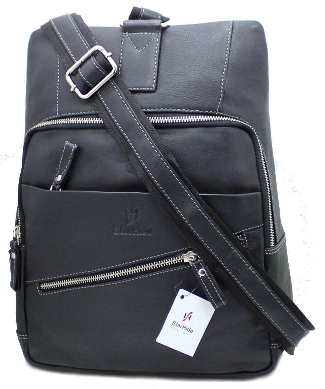 Unisex Real Leather Cross body Sling Travel Messenger Bag