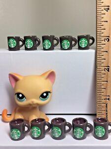 5 Pc Dollhouse Miniature Multicolored Starbucks Coffee Cups 1:6th Scale