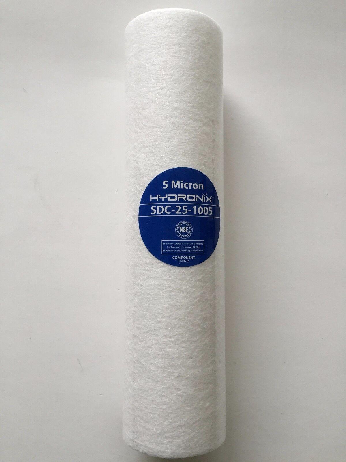 WATTS FPMB5-978 5 MICRON 10 x2.5  SEDIMENT FILTER HYDRONIX - CASE OF 40 FILTERS