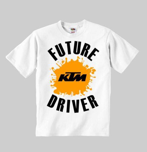 future KTM driver t-shirt white kids clothes for child toddler boy girl UNISEX