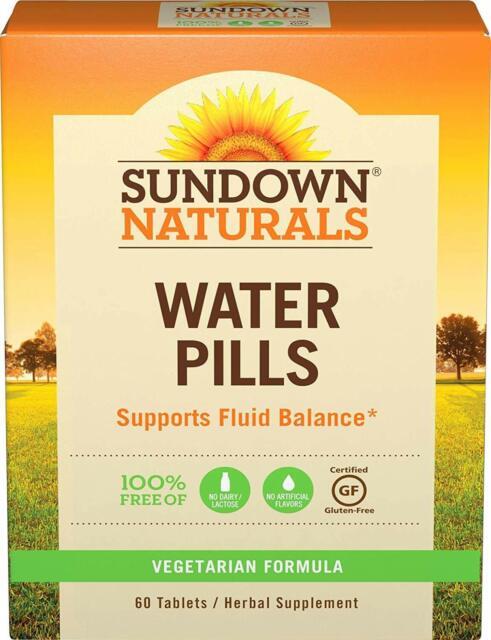 Sundown Naturals Natural Water Pills Tablets 60ct 030768003746a242 For Sale Online Ebay