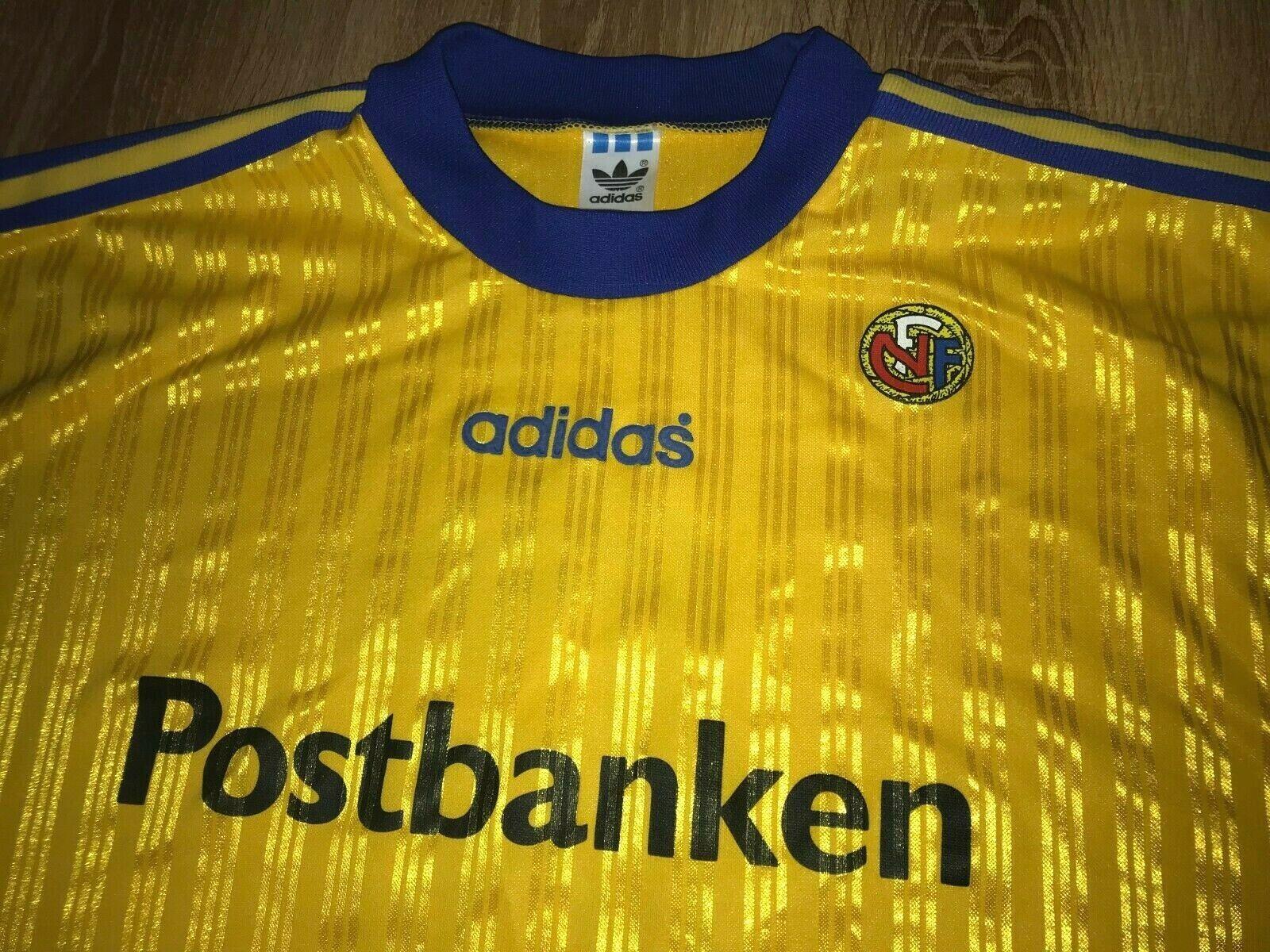 Norvegia 1990 1991 1992  6 RARA VINTAGE Gioventù MATCH WORN AWAY THIRD Camicia Taglia L