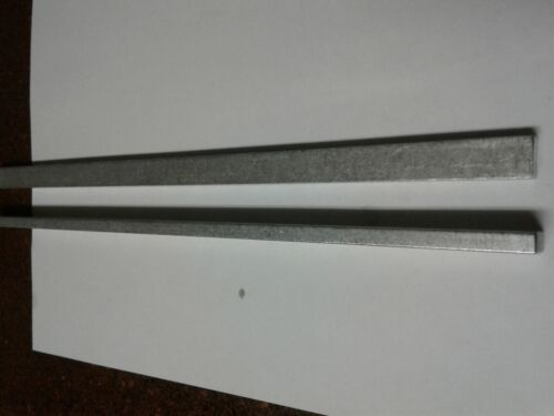 "2 Pieces 1//4/"" X 1//2/"" ALUMINUM FLAT BAR 12/"" long 6061 .250/"" Plate Mill Stock"