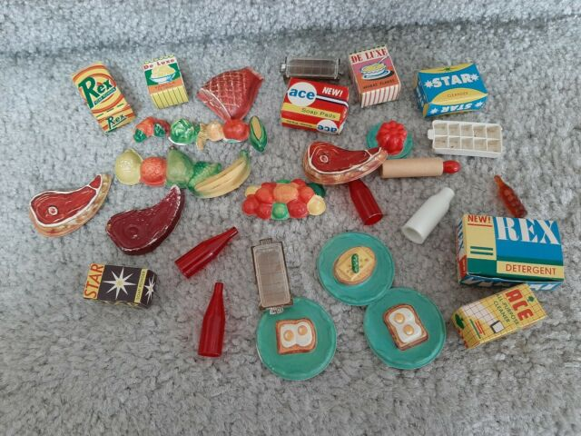 Vintage 1960's Barbie Deluxe Reading Dream Kitchen Food Accessories