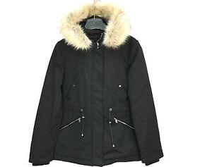 Zara Parka Water Resistant Fur Hood Coat Size Small Ebay