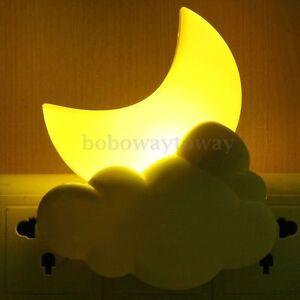 led nachtlicht steckdose sensorlicht baby kind schlafzimmer licht lampe notlicht ebay. Black Bedroom Furniture Sets. Home Design Ideas