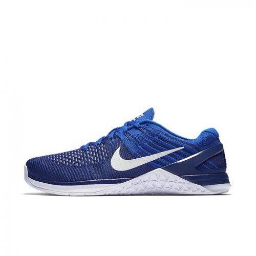 Nike Metcon DSX Flyknit Deep Royal Blue Racer Blue White Size 13 852930-402