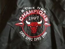 Pro Player Chicago Bulls Nylon Jacket XL NBA Michael Jordan 5 Time Champs 90's