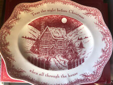 Johnson Brothers Bros Twas The Night Before Christmas Oval Platter 12 Inch For Sale Ebay