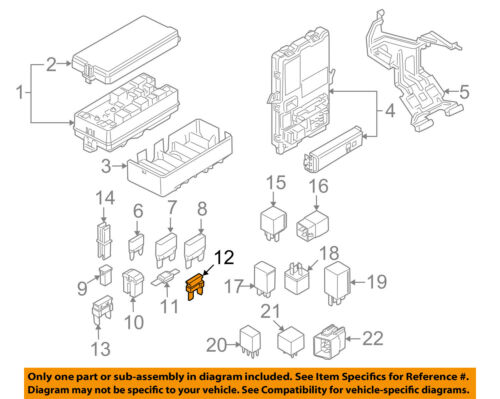 FORD OEM 08-10 E-350 Super Duty 5.4L-V8-Fuse 4F2Z14A604AA