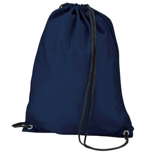 x10 Navy Blue Drawstring Gym Sports School PE Bag Bulk Buy Job Lot