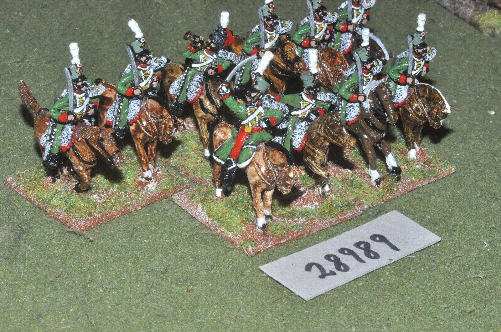 25mm napoleonic   french - hussars 10 figures - cav (28989)