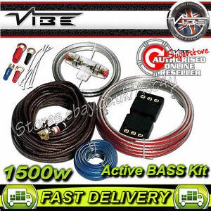 vibe flat 8 awg gauge 1500 watts active bass system car amp rh ebay com