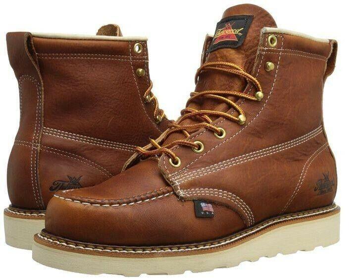 Thorogood 814-4200 Heritage 6  Bota Puntera Moc (Soft Toe botas de trabajo, hecho en EE. UU.)