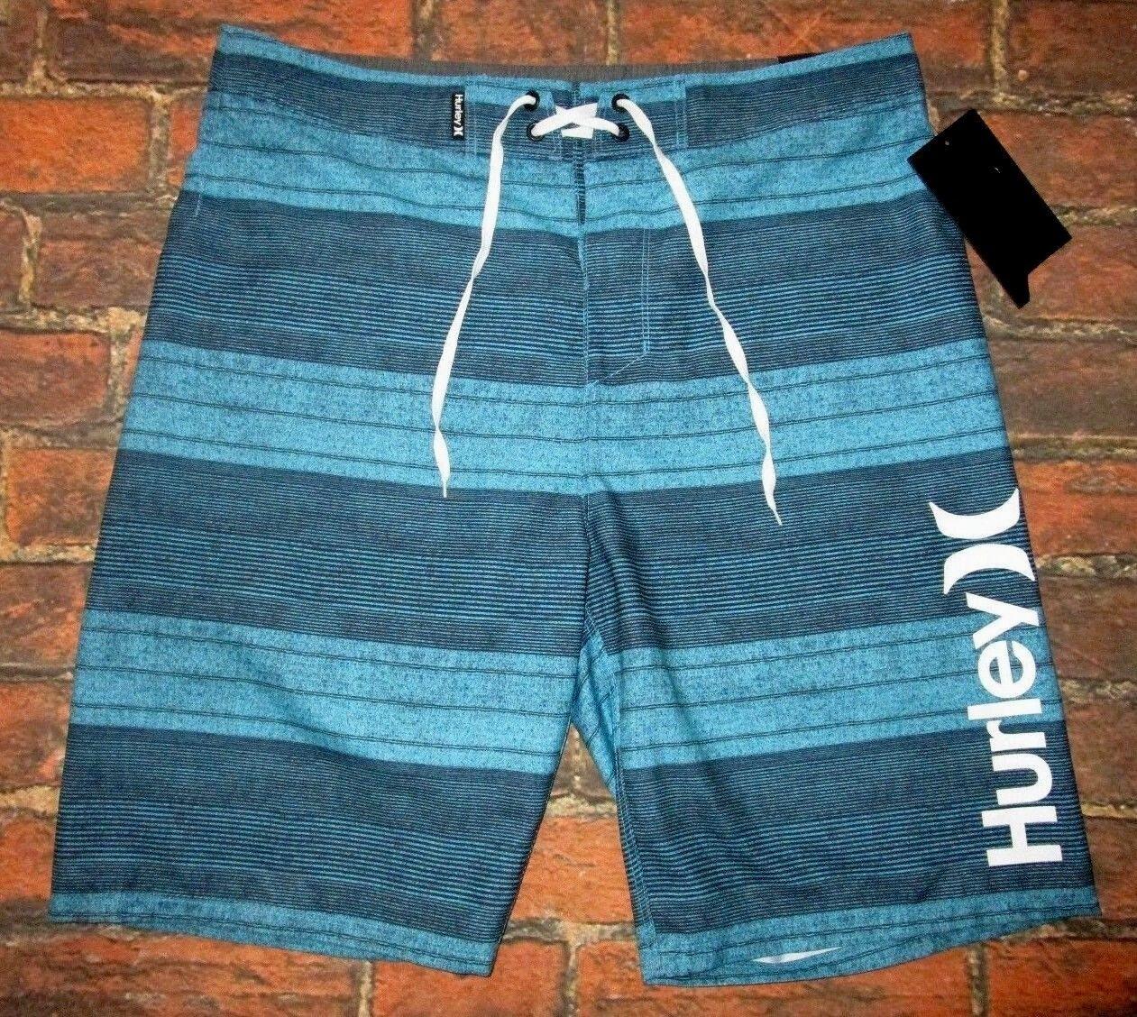 MENS HURLEY blueE SWIM BOARD SHORTS SIZE 34