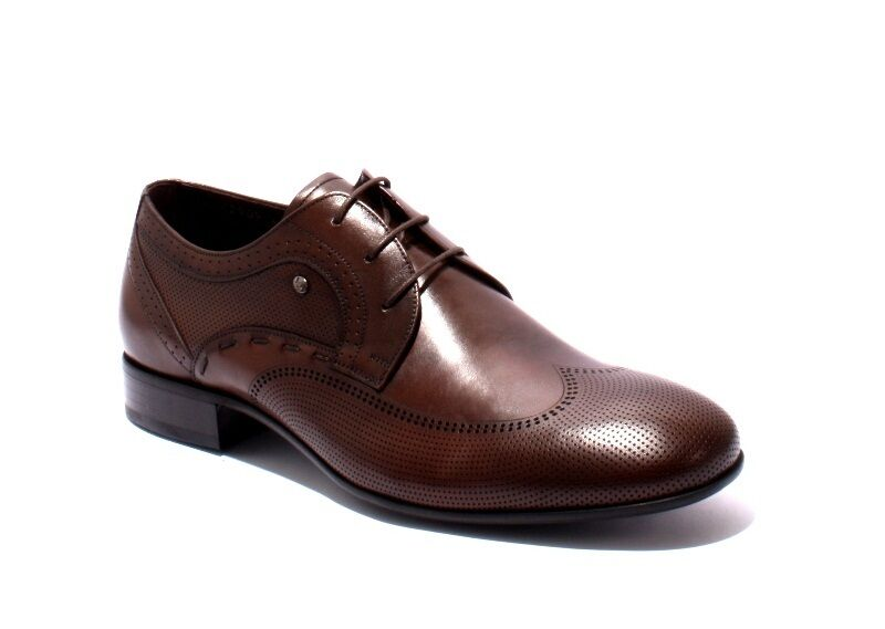 ROBERTO SERPENTINI 42909 Brown Pelle Lace-Up Classic Shoes 42 /   9