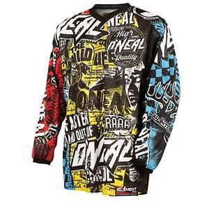 O-039-Neal-Element-MX-Jersey-Shirt-WILD-Moto-Cross-Mountainbike-Enduro-MTB-Downhill