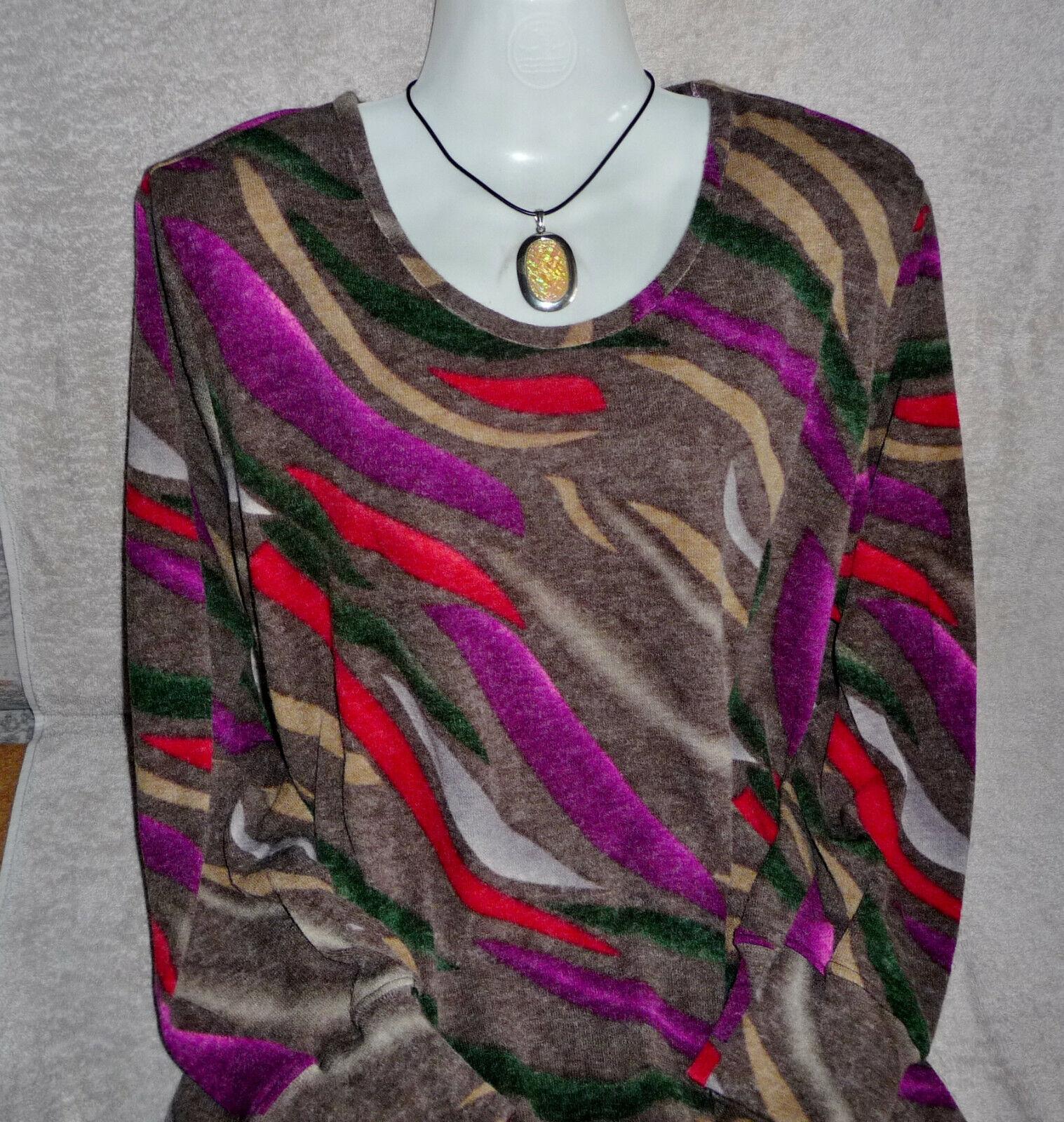 UNIKATDamen Shirtpulli,Langarm,48 50 52,Stoff mit Wolleanteil,selbst genäht,NEU