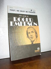 Choral Music: First, We Must be Friends by Emerson(3-Part) Jenson Pub. 403-06010