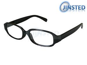 Ovaler-Schwarzer-Lesebrille-Brille-Lesebrillen-Hell-Lang-Gesichtet-RG017