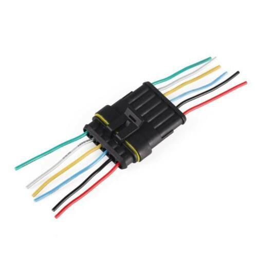Cars Motorcycle Sealed Connector Plug Electrical Wire Waterproof 1//2//3//4//5//6 Pin