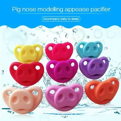 Funny Dummy Baby Pig Nose Pacifier Teether Teeth Child Lip Soother Nipple