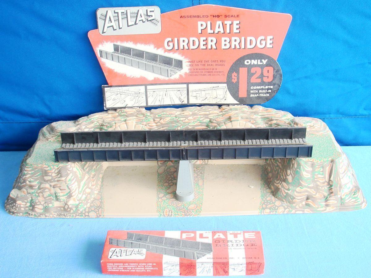 ATLAS HO GAUGE modellolo RAILstrada TRAIN PLATE GIRDER BRIDGE SNAP TRACK STORE COUNTER