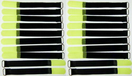 20 x Klett Kabelbinder 160 x 16 mm neongelb Kabelklettband Kabelklett Klettband