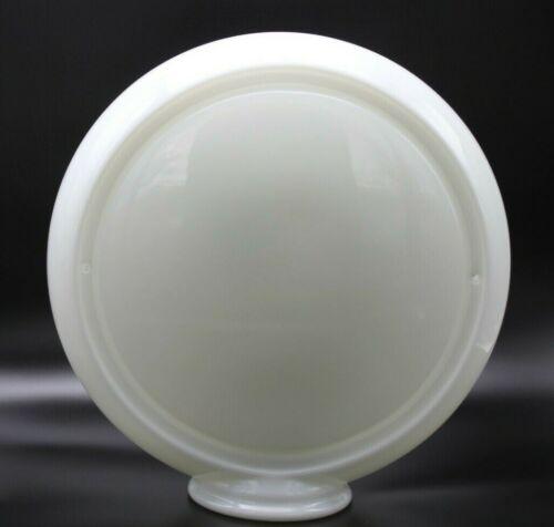 """Wide Body  5 3//4/"""" Wide 13.5/"""" Milk Glass Gas Pump Globe Body"""