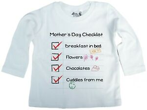 Dirty-Fingers-Mother-039-s-Day-Checklist-Baby-Girl-Long-Sleeve-Top-Funny-Gift
