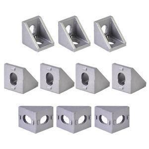 10Pcs T-slot L Shape Aluminum Brace Corner Joint Right Angle Shelf Bracket