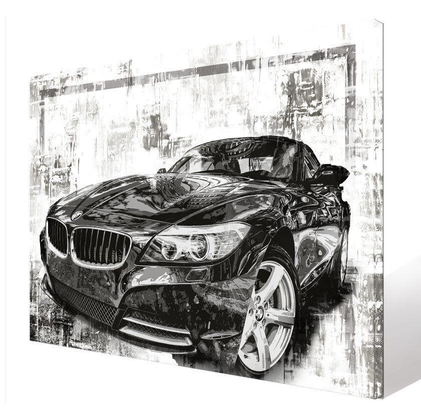 Wandbilder Auto BMW M3 Sportwagen Bild Leinwand Abstrakte Kunst Bilder D1124