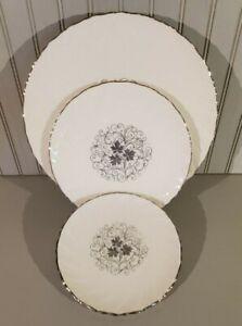 Lenox Valera plates (3)--dinner, salad, bread & butter; silver, 1960s/70s