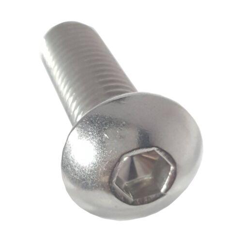 "6-32 x 1-1//4/"" Button Socket Cap Screw Allen Hex Drive Stainless Steel Qty 50"