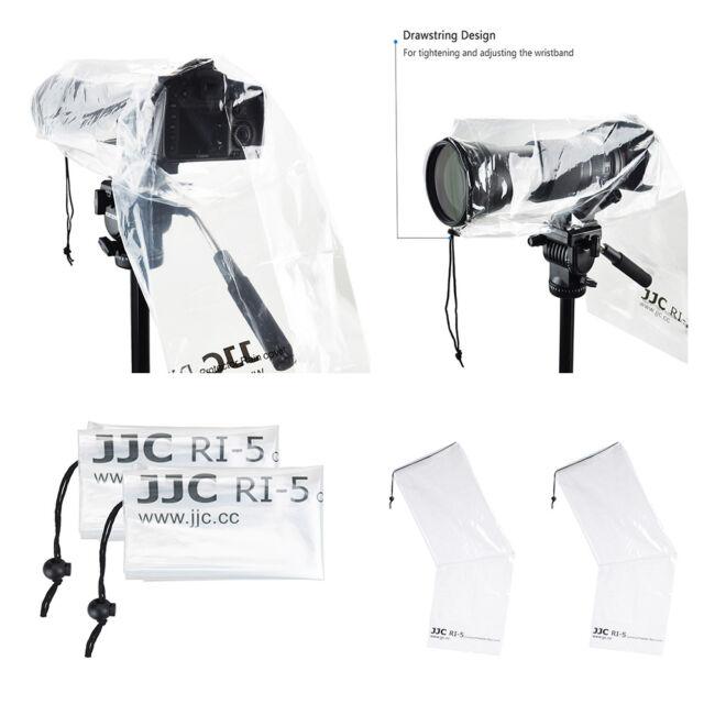 JJC 2PCS Waterproof Rain Cover Coat Poncho Protector for DSLR Camera Canon Nikon