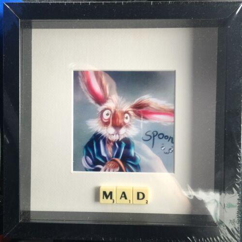 Alice au pays des merveilles Fou Mars Lièvre Scrabble photo neuf de la marque peut personnaliser