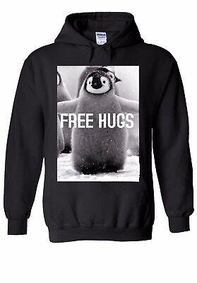 Penguin gratuito Abbracci Divertente Animale Uomini Donne Unisex Top Felpa Con Cappuccio Felpa 1354