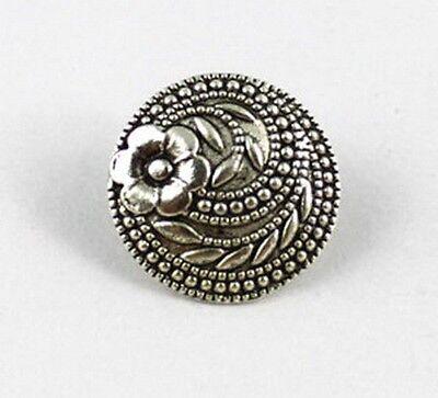 60PCS Tibetan silver flower round button bead FC15353