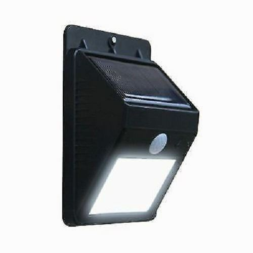 NEW SOLAR PIR BRIGHT WHITE MOTION SENSOR LIGHT SECURITY SHED WALL GARDEN