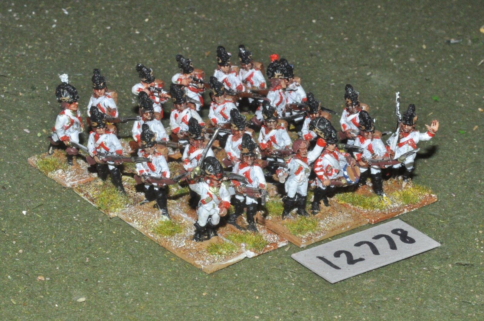 25mm napoleonic   french - revolutionary war infantry 24 figs - inf (12778)