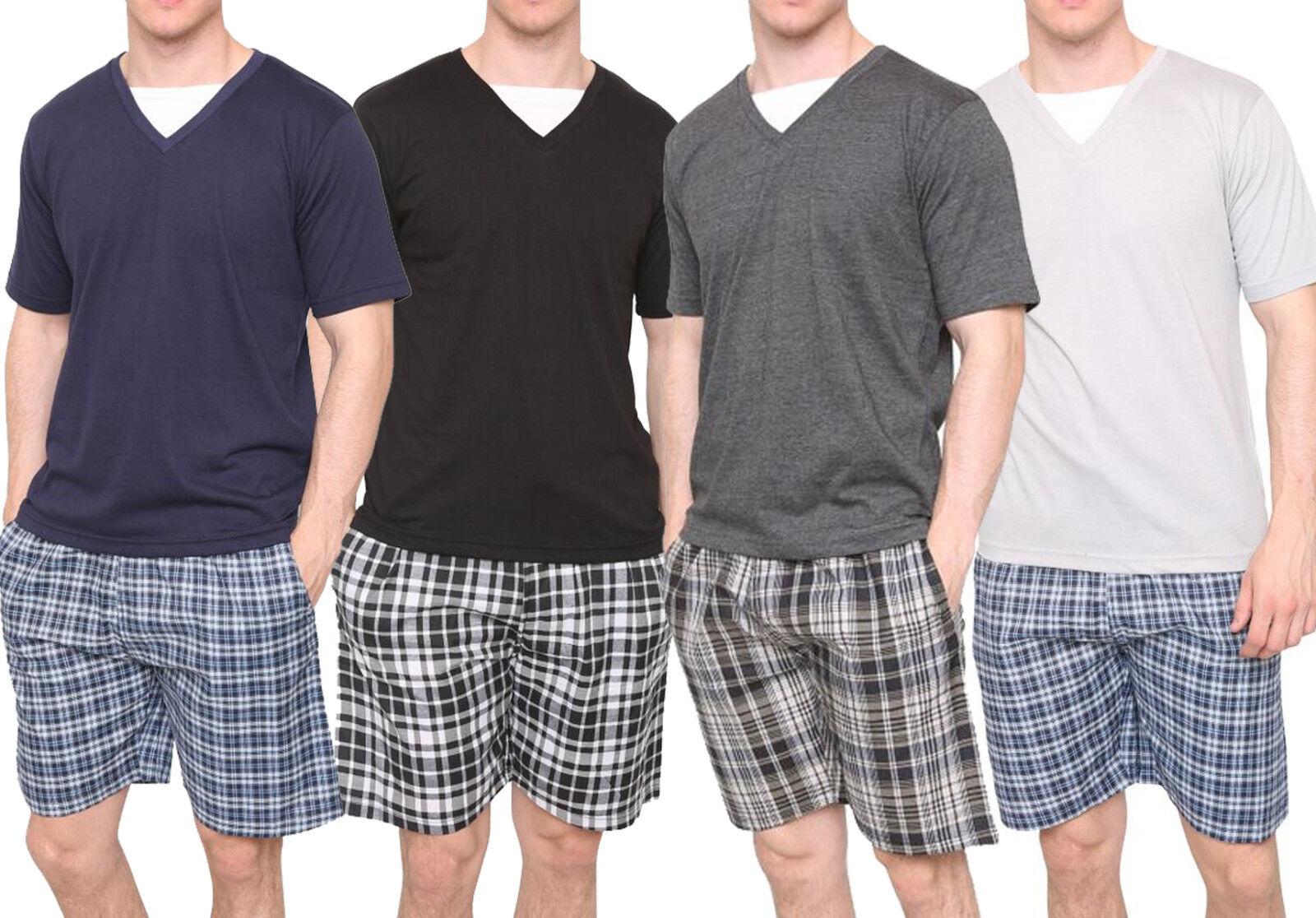 Nuovo men Tshirt Shorts Set Tempo Libero Confezione Multipla Pigiama