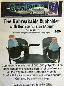Diestco-UNBREAKABLE-CUPHOLDER-with-Horizontal-Side-Mount-A1327-NEW