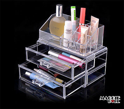 Acrylic Makeup Make Up Lipstick Display Stand Holder Cosmetic Storage FREE SHIP
